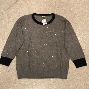 NWT ATTRACTIVE J CREW SWEATER. Size Large